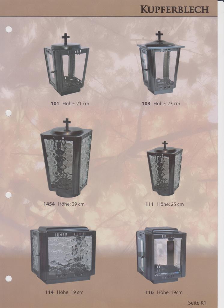 Laterne  Vase und Schale aus Kupfer Bronze und Alu ab Euro 130-