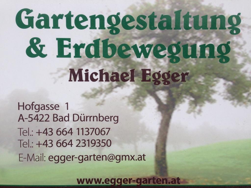 Michael Egger Gartengestaltung  Erdbewegung KG