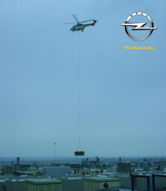 Spannende Installation am Opel Werk